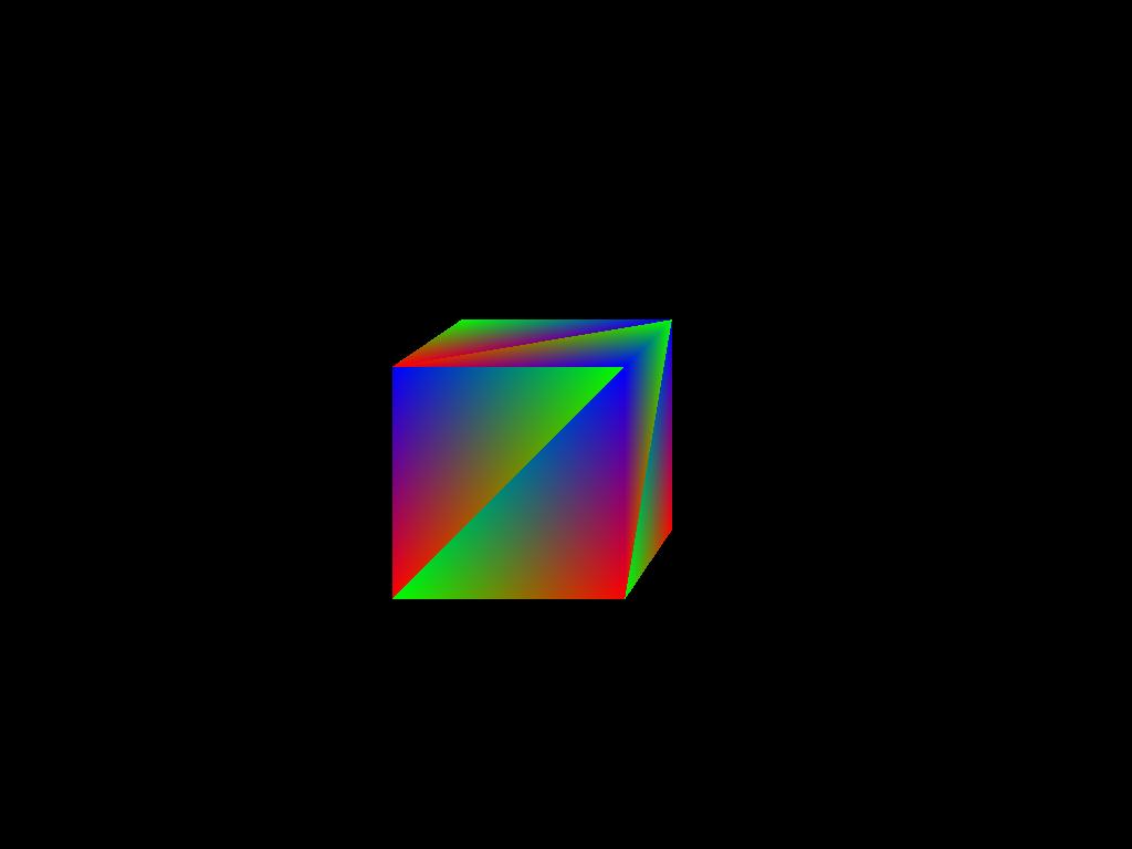 Raytraced cube